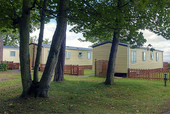 Holiday caravans for hire by the coast on Exmoor